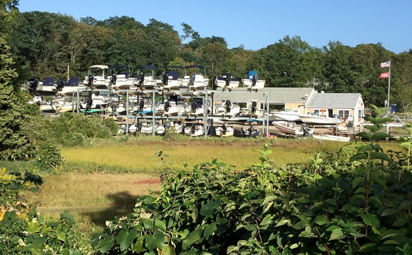 The Boats At Meetinghouse Pond In Orleans On Cape Cod Are Getting Ready For Winter