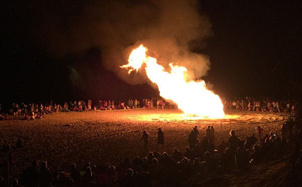 Memorial Bonfire At Nauset Beach On Cape Cod Was Amazing!