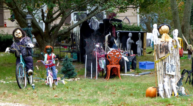 Some Scary Halloween Decorations On Cape Cod