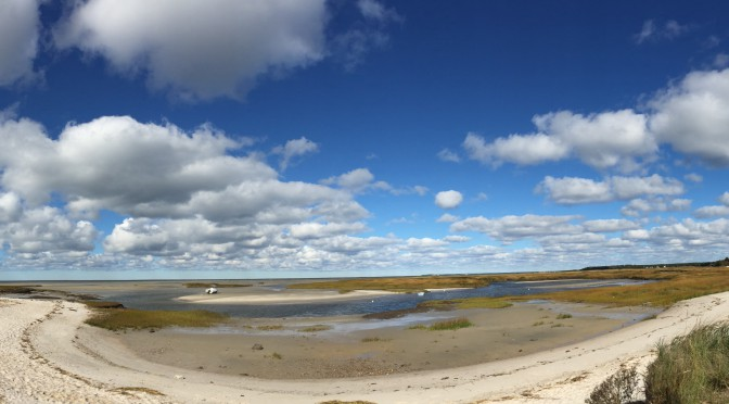 It Was Low, Low Tide At Boat Meadows In Eastham On Cape Cod