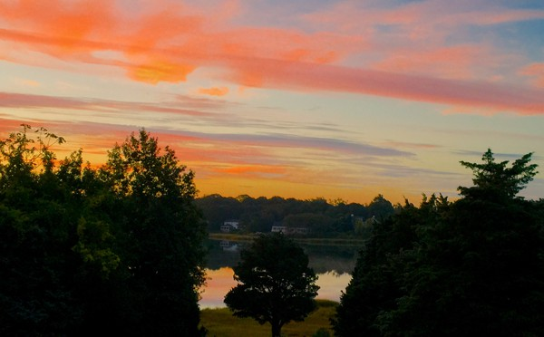 Beautiful Sunrise At Meetinghouse Pond In Orleans On Cape Cod