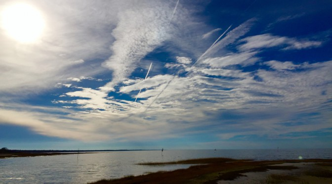 Gorgeous Sky Over Rock Harbor in Orleans On Cape Cod