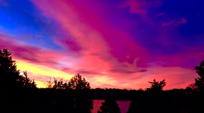Gorgeous Sunrise At Meetinghouse Pond In Orleans On Cape Cod