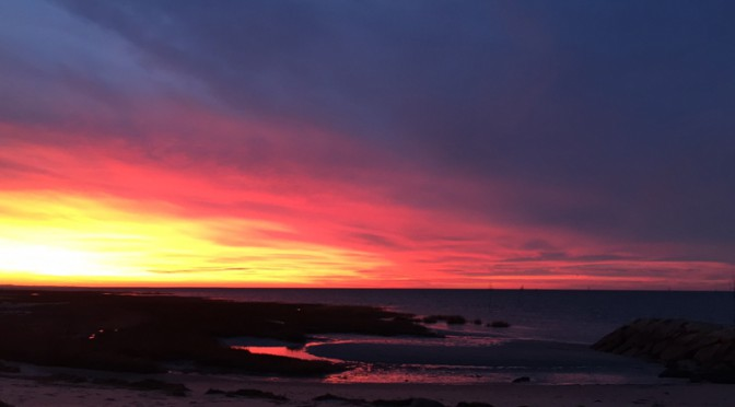 Spectacular Sunset at Rock Harbor In Orleans  On Cape Cod