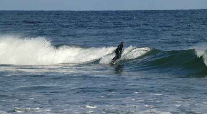 Surfing Any Time Of The Year At Nauset Beach in Orleans On Cape Cod