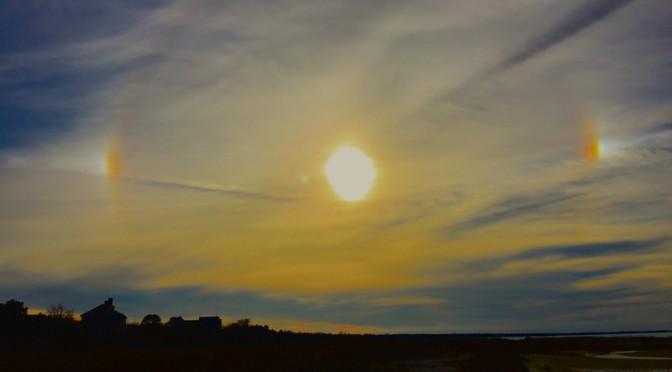 Sundogs In The Sky On Boat Meadows Beach On Cape Cod