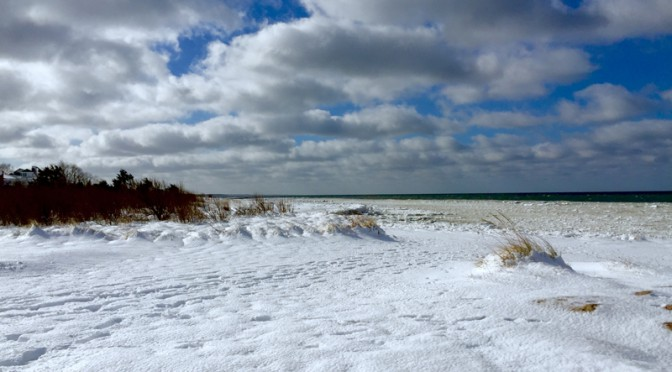 Snow-Covered Rock Harbor Beach In Orleans On Cape Cod Is Spectacular!