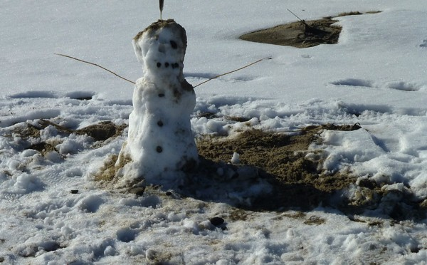 Little Snowman On Nauset Beach In Orleans On Cape Cod