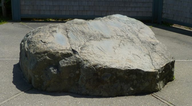 Indian Rock At Fort Hill On Cape Cod