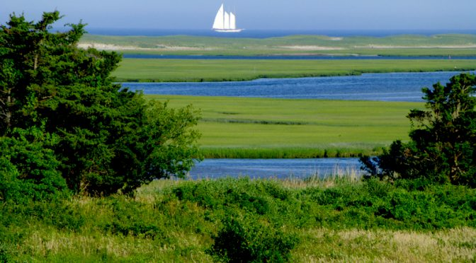 Beautiful Three Masted Ship From Fort Hill In Eastham On Cape Cod