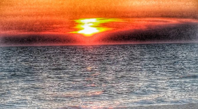 Spectacular Sunset At First Encounter Beach On Cape Cod Bay On Cape Cod