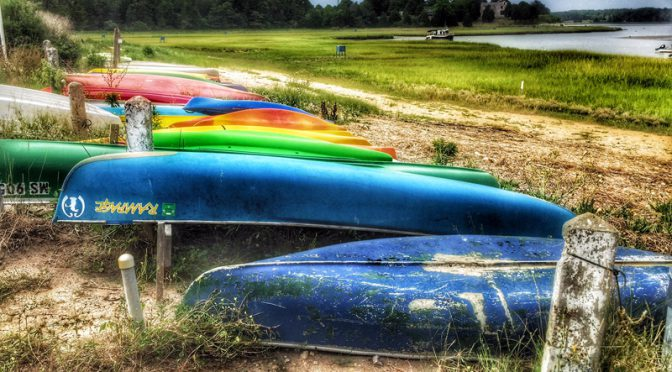 Canoe Or Kayak From Hemenway Landing On Nauset Marsh On Cape Cod