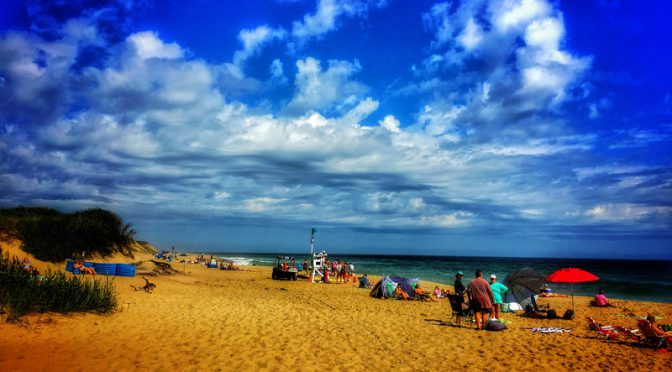 Labor Day Weekend At Coast Guard Beach On Cape Cod Before The Storm