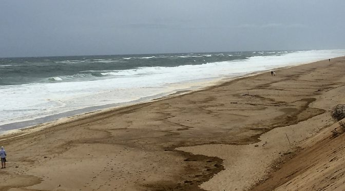 Huge Waves At Nauset Light Beach In Eastham On Cape Cod