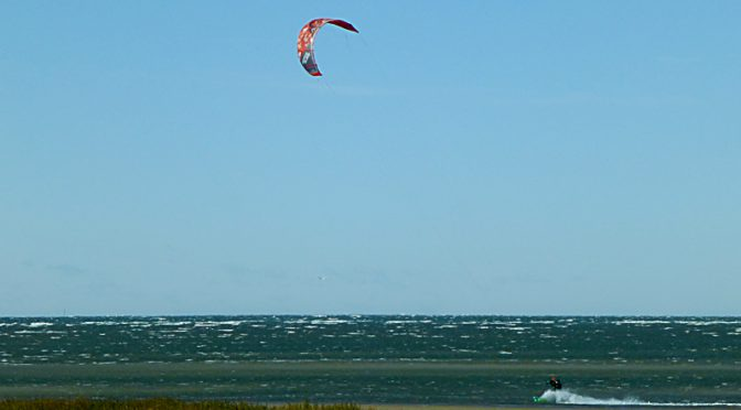 Kite Surfer At First Encounter Beach On Cape Cod