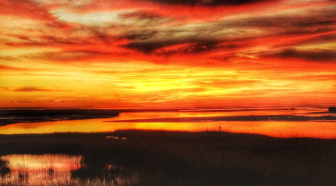 Spectacular Sunset At Boat Meadow On Cape Cod Bay
