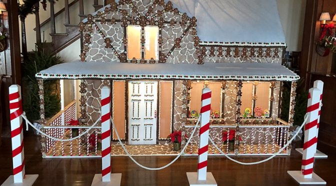 Lifesize Gingerbread House At The Chatham Bars Inn On Cape Cod