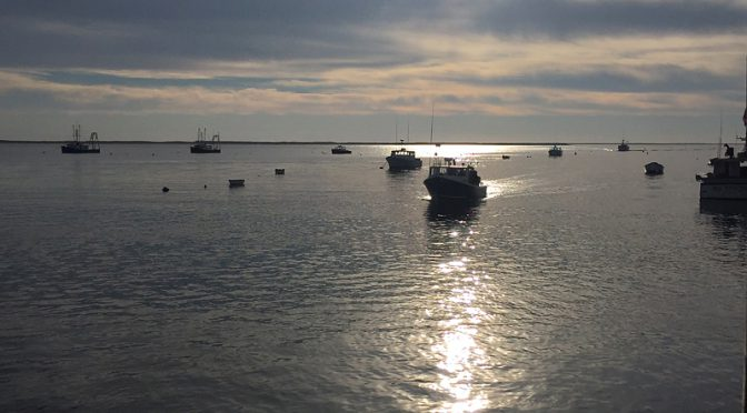 A Few Boats In Chatham Harbor On Cape Cod