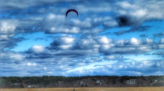 Winter Kite Surfing On Cape Cod Bay