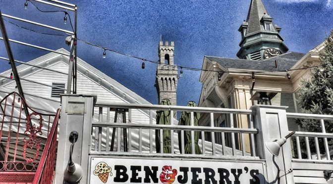 Cool Ben & Jerry's Ice Cream Shop In Provincetown On Cape Cod