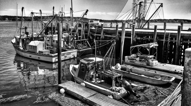 Wellfleet Fishing Boats On Cape Cod In Black And White Or Color?