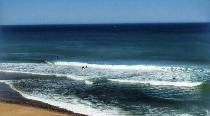 Surfers At Whitecrest Beach In Wellfleet On Cape Cod