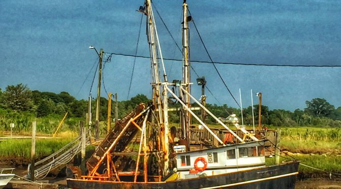 Old Fishing Boat At Rock Harbor On Cape Cod