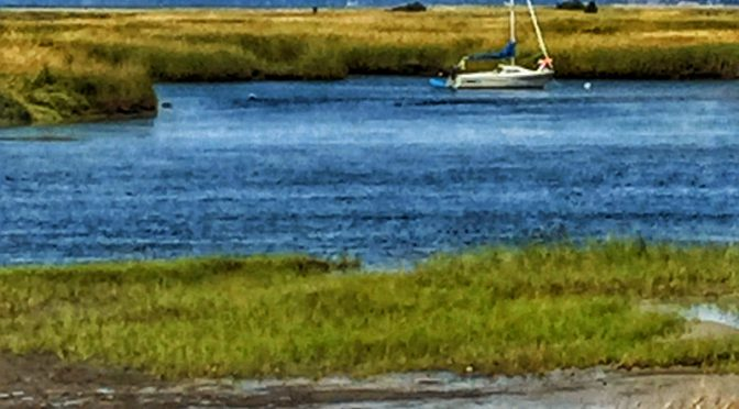 Lone Sailboat At Boat Meadow On Cape Cod