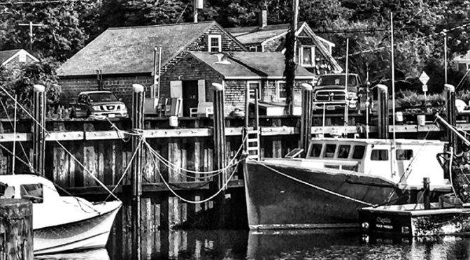 Black And White Photograph At Rock Harbor In Orleans On Cape Cod