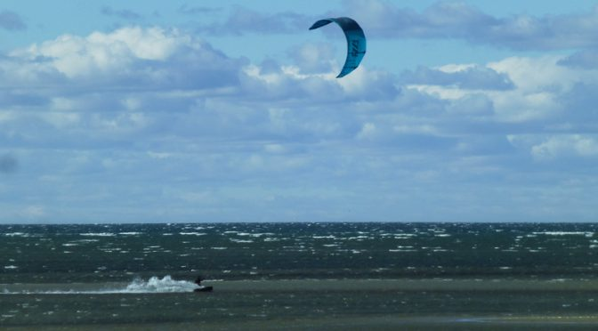 Kite Surfers At First Encounter Beach On Cape Cod