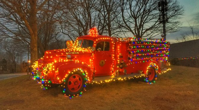 The Holidays Lights Are Aglow In Eastham On Cape Cod
