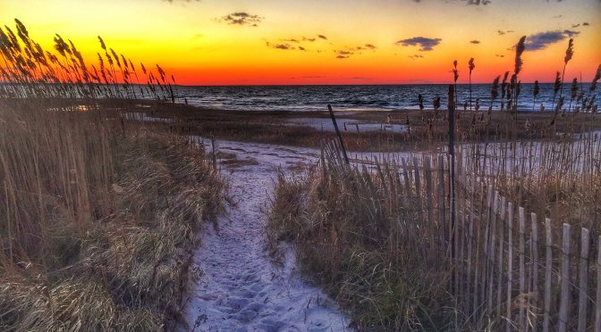 Beautiful Sunset On Cape Cod Bay In Eastham