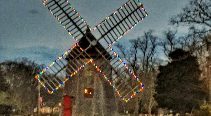 Festive Eastham Windmill on Cape Cod