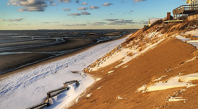 Snowy Dunes In Eastham On Cape Cod