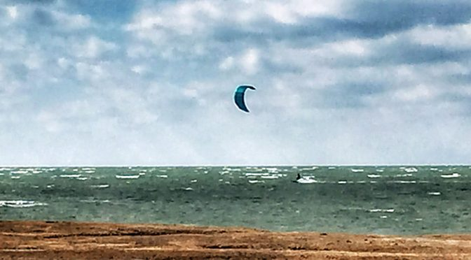 Kite Surfing On Cape Cod Bay… Brrr!