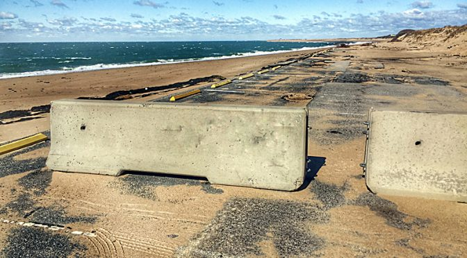 Herring Cove Parking Lot In Provincetown On Cape Cod Got Hammered Over The Winter