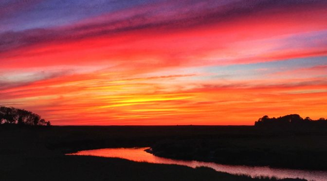 Gorgeous Sunset At Boat Meadow Salt Marsh On Cape Cod