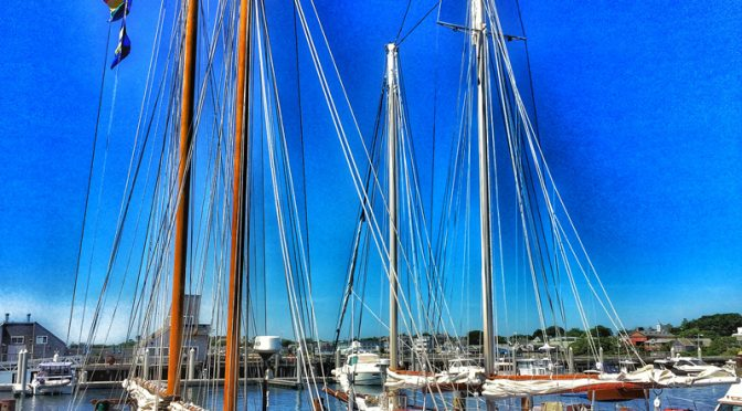 Lots Of Boats In Provincetown Harbor On Cape Cod