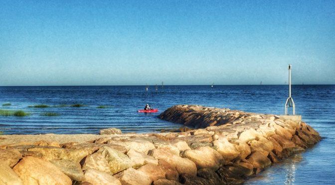 Kayak Fishing At Rock Harbor On Cape Cod