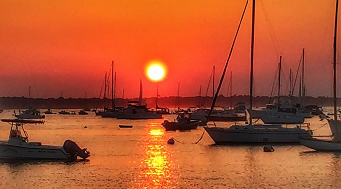Gorgeous Sunset Over Newport Harbor In Rhode Island