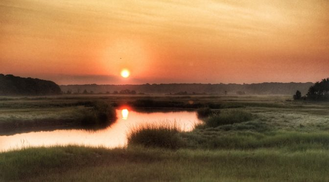 Gorgeous Sunrise Over Boat Meadow Salt Marsh On Cape Cod