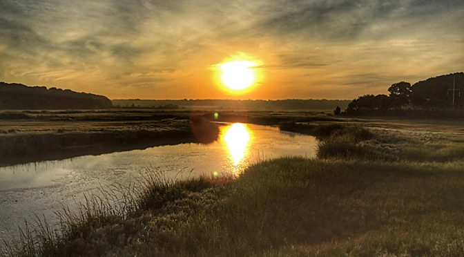 Spectacular Sunrise Over Boat Meadow Salt Marsh On Cape Cod