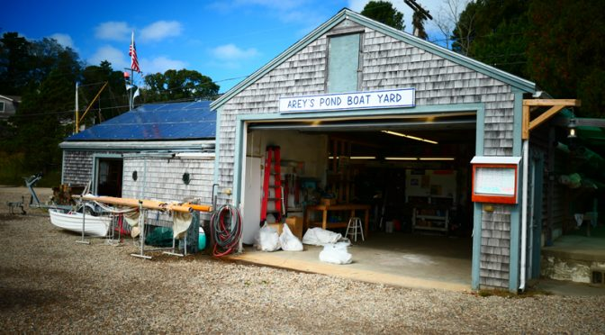 Arey's Pond Boat Yard In Orleans On Cape Cod.