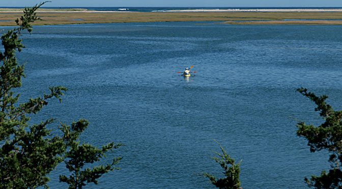 Fall Kayakers At Nauset Marsh On Cape Cod.