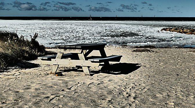 A Little Chilly For A Picnic At Rock Harbor On Cape Cod.