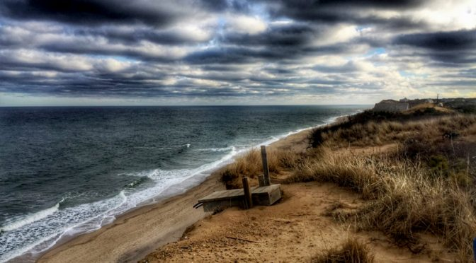 View From A Little Cottage On White Crest Beach In Wellfleet On Cape Cod.