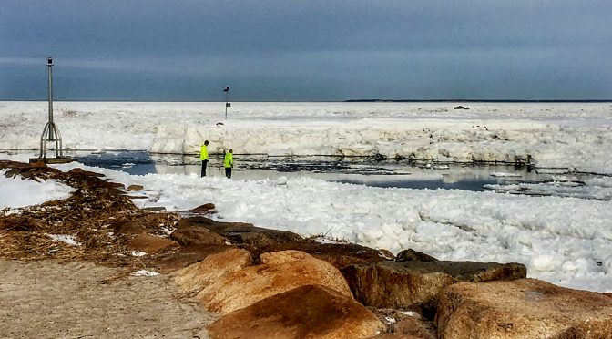 The Ice Is Really High At Rock Harbor On Cape Cod!