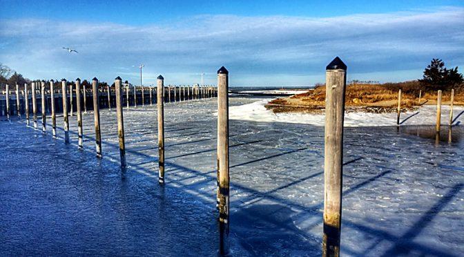 Winter At Rock Harbor On Cape Cod.
