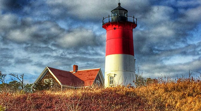 Gorgeous View of Nauset Light On Cape Cod.