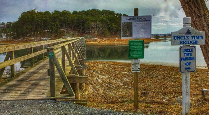 Uncle Tim's Bridge In Wellfleet On Cape Cod.